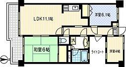 川崎第2ダイヤモンドマンション[302号室]の間取り