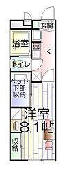 東京都足立区六木3丁目の賃貸アパートの間取り