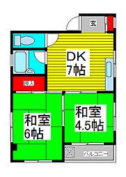 上青木コレクションハウス[202号室]の間取り