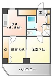 ハイムタケダT8[8階]の間取り