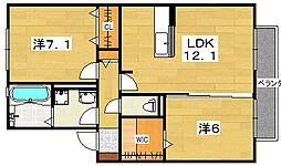 シャンゼトワール藤が尾 C棟[2階]の間取り