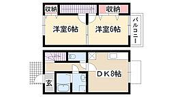 [テラスハウス] 愛知県名古屋市名東区猪子石1丁目 の賃貸【/】の間取り