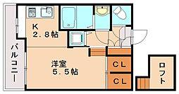 ソフィア高宮B館[3階]の間取り