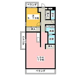 ファミール浅井[2階]の間取り