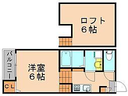 ステージ東光[2階]の間取り