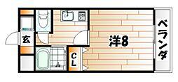 リモージュ野上[5階]の間取り