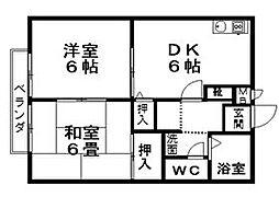 エーライン泉 B棟[1階]の間取り