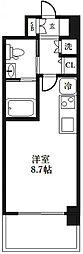 エヴァステージ梅田WEST[206号室]の間取り