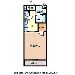Hacchi西軽井沢 2階1Kの間取り