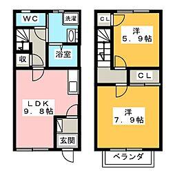 [テラスハウス] 静岡県湖西市駅南3丁目 の賃貸【/】の間取り