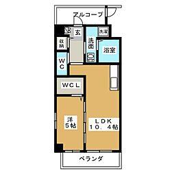 愛知県名古屋市中村区道下町3丁目の賃貸マンションの間取り