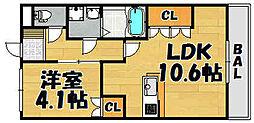 ルミナスII[102号室]の間取り
