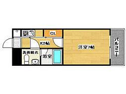 エステートモア平尾山荘通り[10階]の間取り