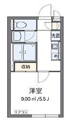 京成本線 堀切菖蒲園駅 徒歩15分の賃貸アパート 2階1Kの間取り