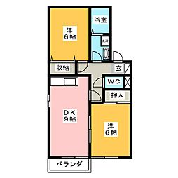 セレスト[2階]の間取り