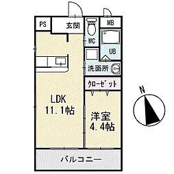 TKハウス 1階[104号室]の間取り