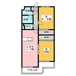 クレイドル[2階]の間取り