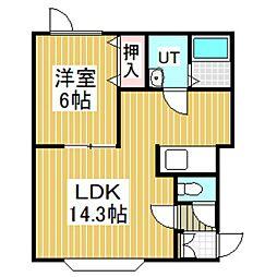 レインボーハウスEBISUⅡ[201号室]の間取り