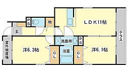 コンフォール青山[1階]の間取り