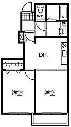 h・サンリット[1階]の間取り