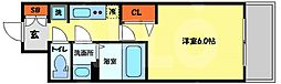 プレサンス南堀江 4階1Kの間取り