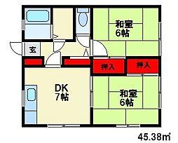 ボーネン21[2階]の間取り