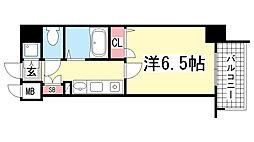 スワンズコート新神戸[10階]の間取り