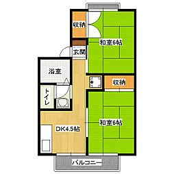 セジュール鈴木[2階]の間取り