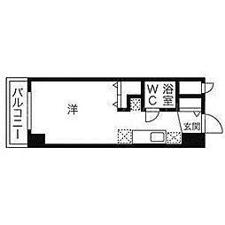 北海道札幌市中央区大通西23丁目の賃貸マンションの間取り