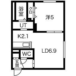CASA東区役所前[4階]の間取り
