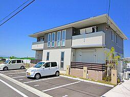 京都府木津川市城山台6丁目の賃貸アパートの外観