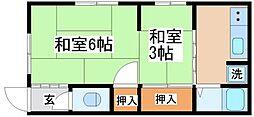 兵庫県神戸市長田区高東町3丁目の賃貸アパートの間取り