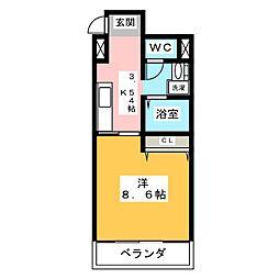 グレースハイツ新栄[2階]の間取り