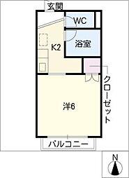 サープラスワン・リバー A棟[1階]の間取り