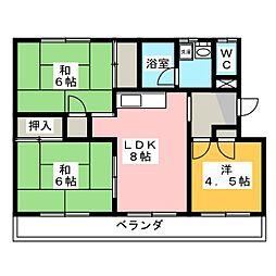 コスモスイトウ[1階]の間取り