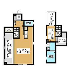 Etoile 中村[1階]の間取り