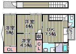 [タウンハウス] 大阪府泉佐野市新安松1丁目 の賃貸【/】の間取り