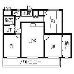 ネオ岩崎台[3階]の間取り