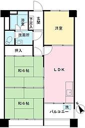 東京都世田谷区南烏山2丁目の賃貸マンションの間取り