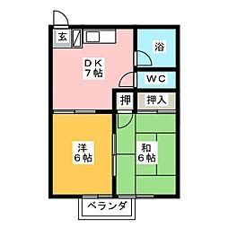 清光コーポ[2階]の間取り