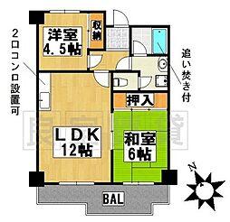 愛知県名古屋市名東区社が丘4丁目の賃貸マンションの間取り