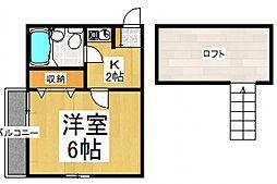 マリンハイツ鷹の台[2階]の間取り