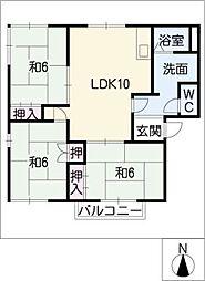 エントピアARAI B棟[2階]の間取り