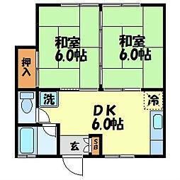 長崎県長崎市愛宕2丁目の賃貸アパートの間取り