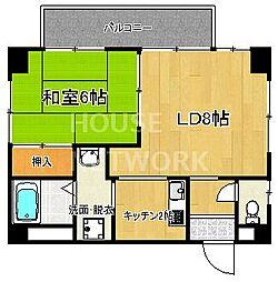 COMO HOUSE[502号室号室]の間取り
