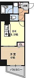 エスリード京都河原町[1003号室号室]の間取り