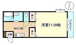サザン27前川ビル[1階]の間取り