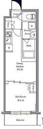東京メトロ丸ノ内線 四谷三丁目駅 徒歩7分の賃貸マンション 4階1DKの間取り