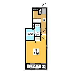静岡県静岡市葵区弥勒2丁目の賃貸アパートの間取り