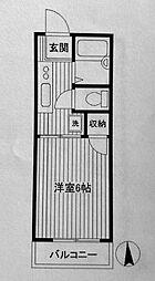 第三フラッツ横浜[103号室]の間取り